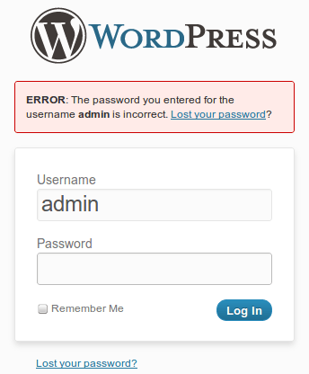 Remove Error Message on the Login Page