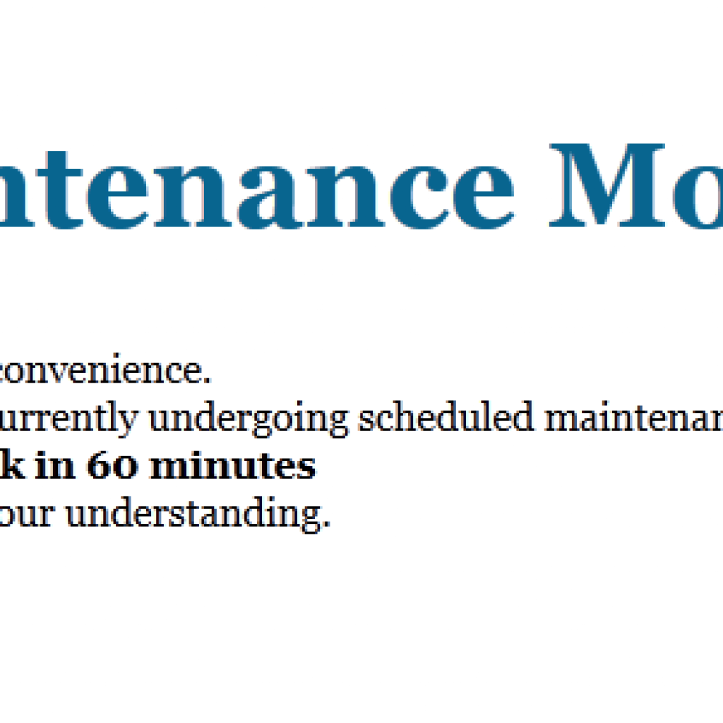 Function Maintenance Mode