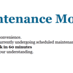 Function Maintenance Mode