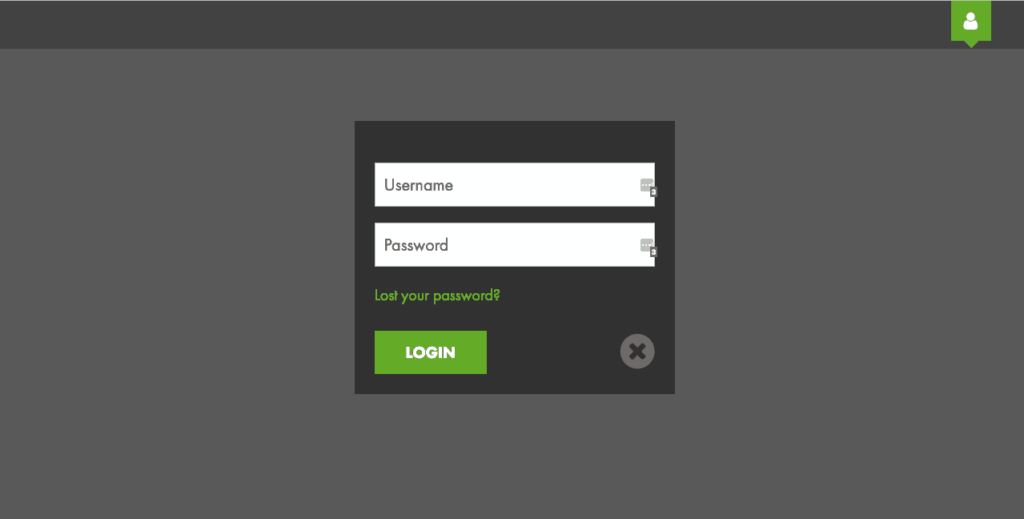 WordPress popup login form