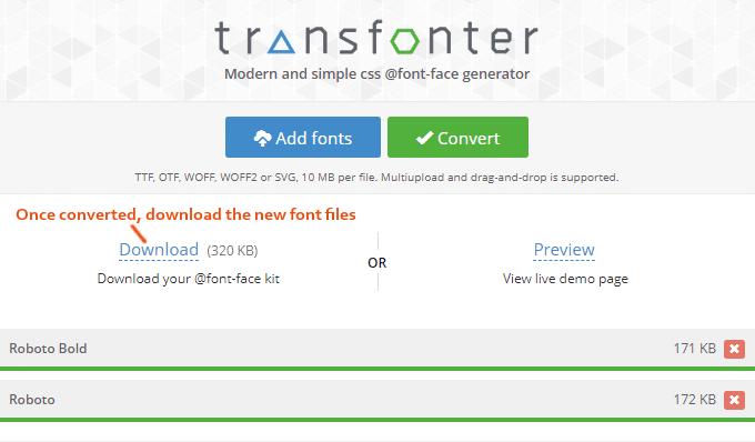 WOFF-Google-Font-Conversion